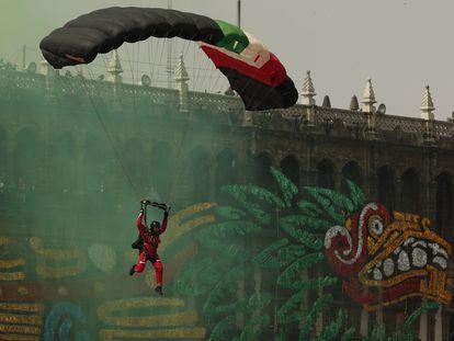 Desfile militar del 16 de septiembre en Ciudad de México.