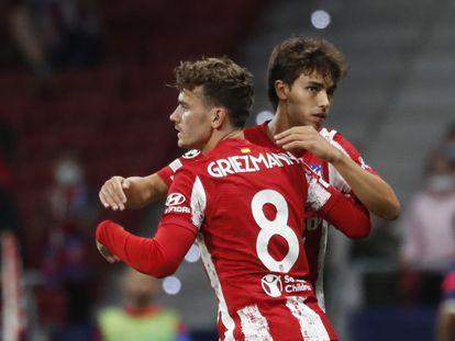 Griezmann, en el momento de sustituir a João Félix durante el último Atlético-Oporto, celebrado en Madrid el pasado miércoles. EUTERS/Susana Vera