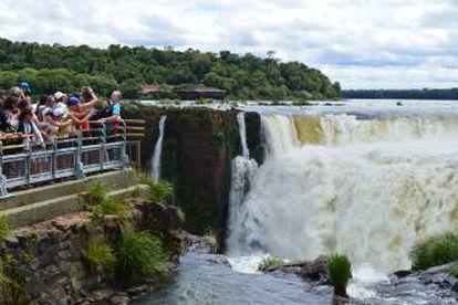 Panorámica de las cataratas del Iguazú.