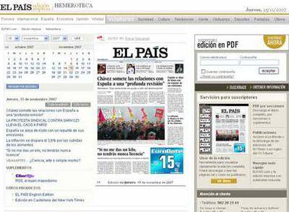 Captura de pantalla de la nueva hemeroteca de ELPAÍS.com