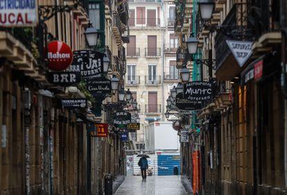 Restaurantes y bares cerrados en San Sebastián.