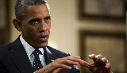 Obama, durante la entrevista en la Casa Blanca, el viernes.