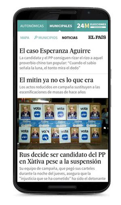 Últimas noticias desde la webapp de EL PAÍS para seguir las Elecciones del 24M