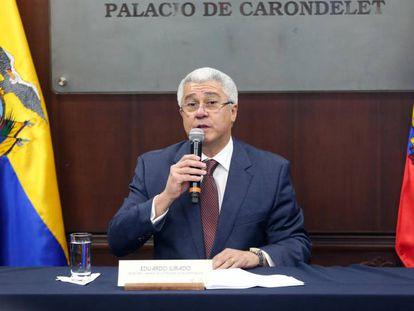 El secretario general de la Presidencia, Eduardo Jurado, este jueves.