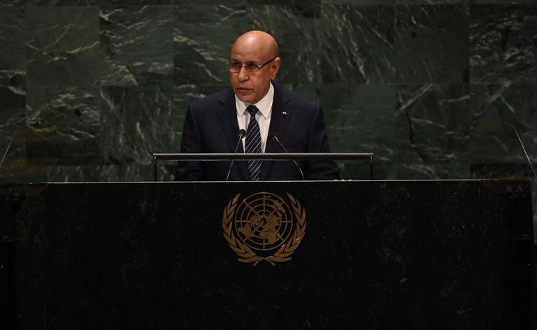 El presidente mauritano, Mohamed Ould Ghazouani, durante la 74ª sesión de la Asamblea General de Naciones Unidas en Nueva York, el pasado mes de septiembre.