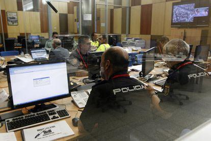 Vista general de la sala de coordinación para la seguridad durante la Jornada Mundial de la Juventud (JMJ)