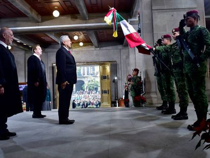 López Obrador en la Suprema Corte de México.