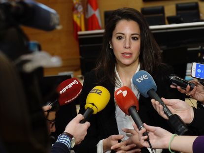 María Montero, la procuradora que este viernes ha abandonado el grupo de Ciudadanos en las Cortes de Castilla y León, el pasado 9 de enero.