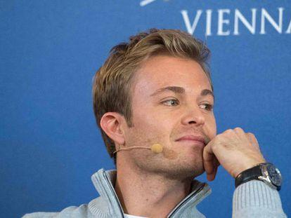 Rosberg en rueda de prensa.