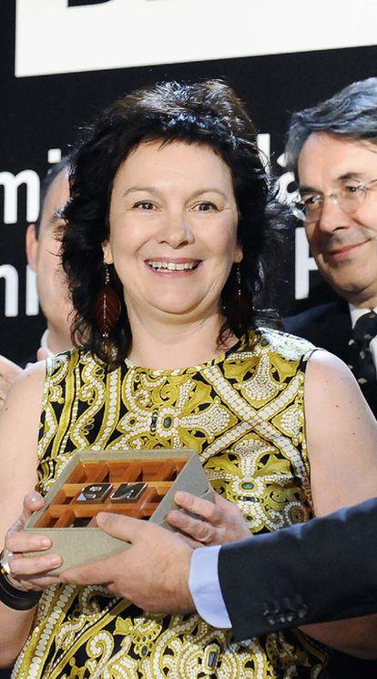 Clara Sánchez recoge el Premio Nadal de Novela.
