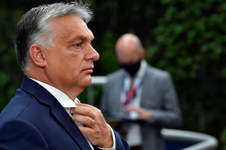 El primer ministro húngaro, Viktor Orban, el 19 de julio de 2020 en Bruselas.