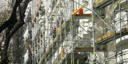 Rehabilitación de un edificio, en una imagen de archivo.