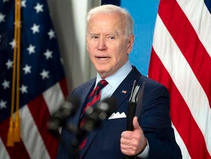 El presidente estadounidense Joe Biden en la Casa Blanca, en Washington, el pasado 7 de abril.