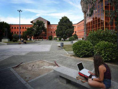 Entrada de la Universidad Rey Juan Carlos, en Vicálvaro (Madrid).