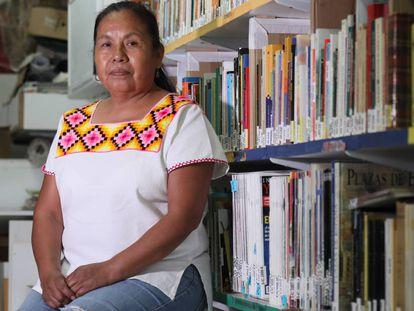 Marichuy, durante la entrevista realizada en el centro socio-cultural Tres Peces Tres de Lavapiés.