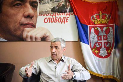 El asesinado Oliver Ivanovic en mayo de 2017 en Mitrovica.