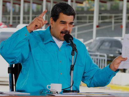 Nicolás Maduro, este jueves, en Caracas.