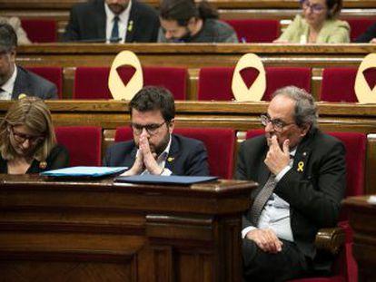 Los populares acuden al Tribunal Superior de Justicia catalán la víspera de la reunión entre Pedro Sánchez y el presidente de la Generalitat