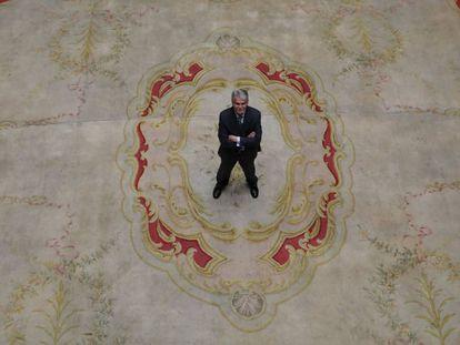El ministro de Asuntos Exteriores, Alfonso Dastis, en la sede del ministerio en Madrid.