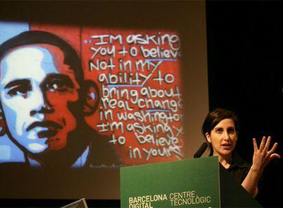 Rahaf Harfoush, durante el Bdigital Global Congress de Barcelona