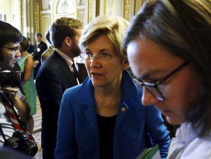 La senadora demócrata Warren lidera la oposición al tratado.