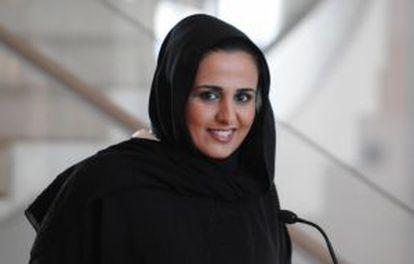 La mujer más poderosa en el mundo del arte: Sheikha Al-Mayassa, hermana del emir de Catar.