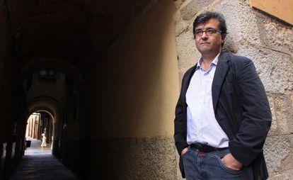 El escritor Javier Cercas, en Girona.