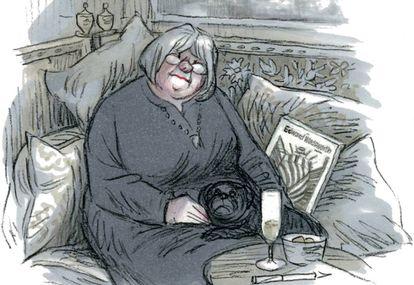 Cassandra, en una viñeta del cómic.