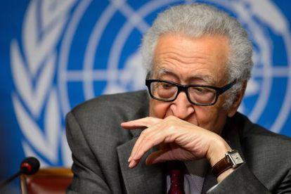 El mediador de la ONU para Siria, Lakhdar Brahimi, este lunes.