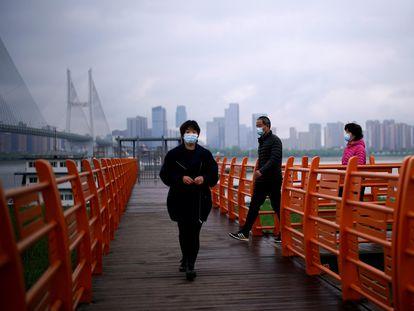 Puerto fluvial de Wuhan, en la provincia china de Hubei, el pasado domingo.