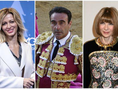 La presentadora Susanna Griso, el torero Enrique Ponce y la editora de 'Vogue', Anna Wintour.