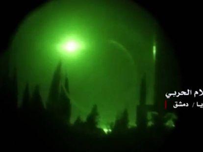 Explosión sobre Damasco.