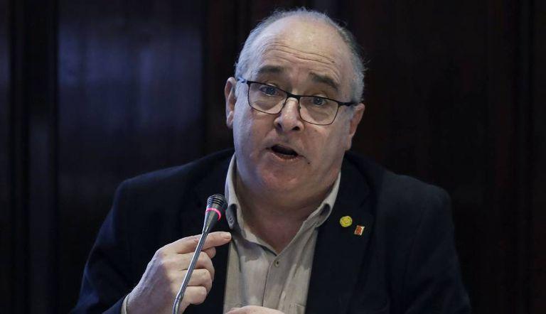 El consejero de Educación, Josep Bargalló, este viernes en el Parlament.