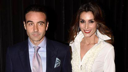 Enrique Ponce y Paloma Cuevas en una recepción en la embajada de EE UU en Madrid, en noviembre de 2016.