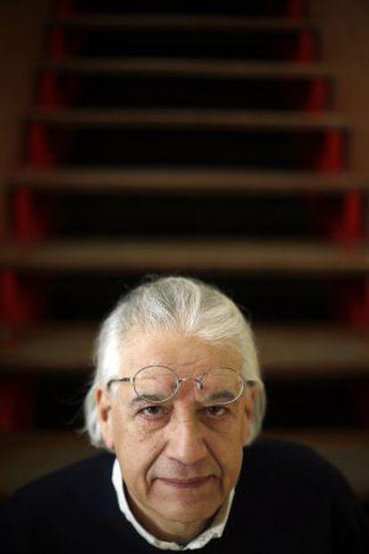 Patricio Guzman, cineasta, fotografiado en el Círculo de Bellas Artes de Madrid.