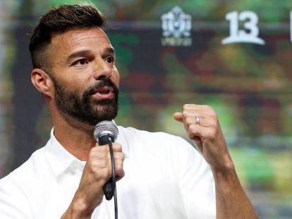 Ricky Martin, en el festival Viña del Mar, en Chile, el domingo.