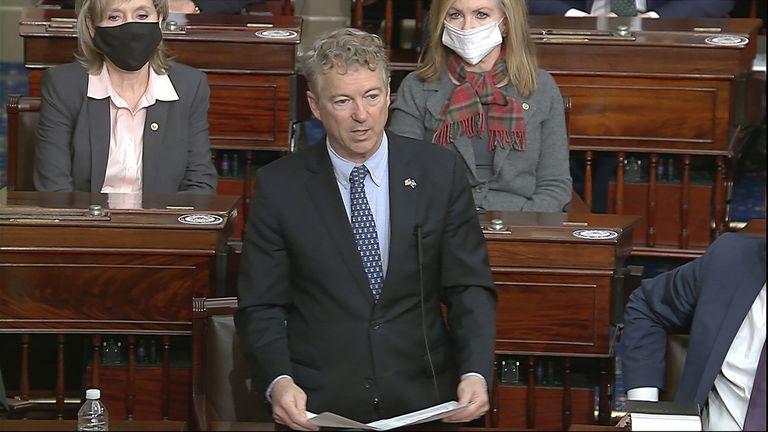 El republicano Rand Paul, en el Senado de EE UU.