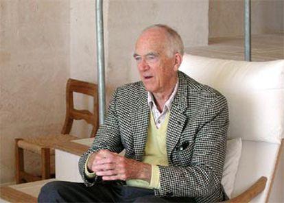 El arquitecto Jørn Utzon, ayer, en su casa de Mallorca.