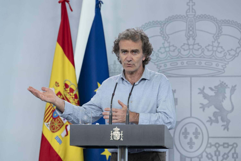 Fernando Simón comparece para explicar la situación de la crisis sanitaria.