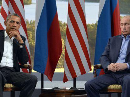 Reunión entre Obama y Putin en la cumbre del G8.