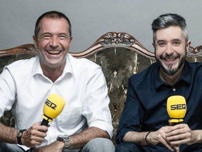 Los periodistas Manu Carreño y Dani Garrido.