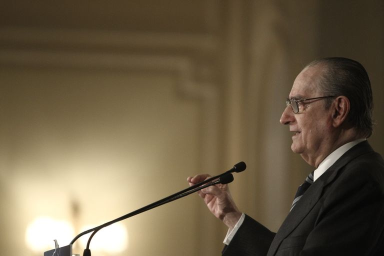Landelino Lavilla, durante una conferencia en 2013.