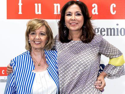 Las periodistas María Teresa Campos e Isabel Gemio, en Madrid en 2019.