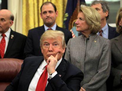 Donald Trump, en una ceremonia en la Casa Blanca.