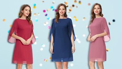 Granate, azul marino o rosa son algunos de los colores en los que puede encontrarse este vestido vaporoso.