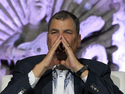 Rafael Correa, expresidente de Ecuador, en una imagen de archivo.
