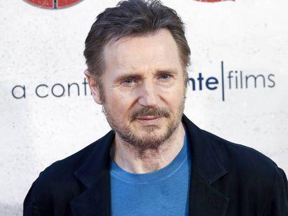 Liam Neeson en la presentación de 'Venganza Bajo Cero' el 16 de julio en Madrid.