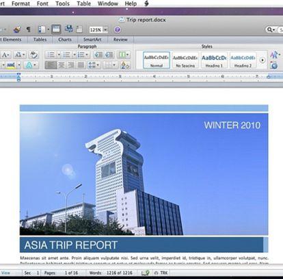 Ofimática de Microsoft para Mac.