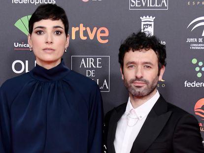 Isabel Peña y Rodrigo Sorogoyen en los premios Goya 2020 que se celebraron en Málaga.