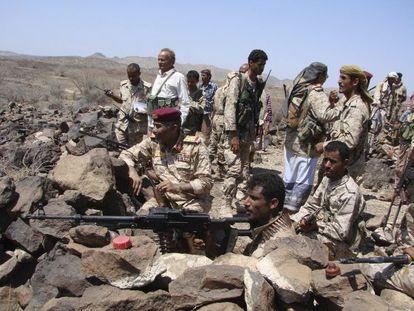 Elementos del ejército yemení, en una ofensiva contra Al Qaeda